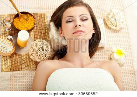 woman receiving spa procedures