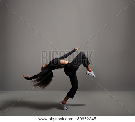 Young and attractive modern dancer