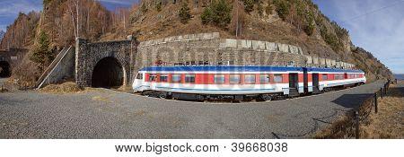 Train On The Circum-baikal Railway