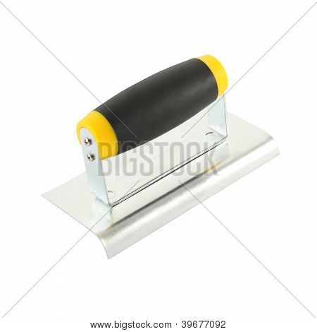 Lute trowel tool for round corner on white background.