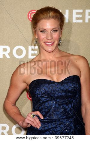 LOS ANGELES - DEC 2:  Katee Sackhoff arrives to the 2012 CNN Heroes Awards at Shrine Auditorium on December 2, 2012 in Los Angeles, CA