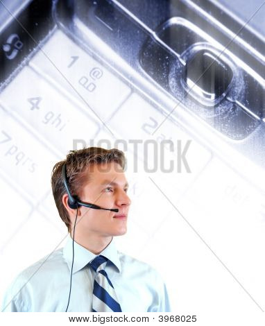 Young Businessman With Headphones
