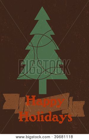 Rustic Style Holiday Greeting