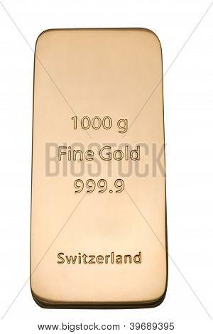 Ingot Of Bank Gold.