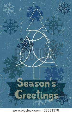 Blue Wintery Christmas Greeting