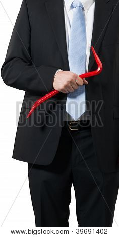 Businessman With A Crowbar