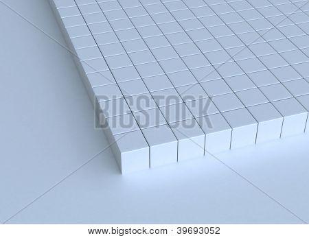 3D Cubes Buildt Structure
