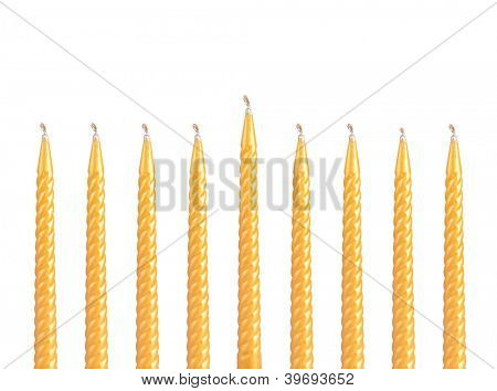 Hanukkah menorah isolated on white background