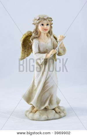 Little Girl Angel With Hand Bell