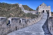 stock photo of qin dynasty  - Great Wall at Mutianyu near Beijing - JPG
