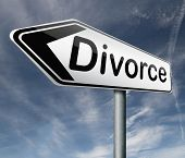 divorce papers or document by lawyer to end marriage dissolution often after domestic violence alimo