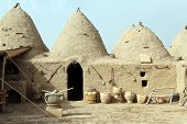 picture of mud-hut  - Traditional houses in Harran in south Turkey - JPG