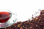 Herbal Tea On White poster