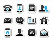 stock photo of faq  - Contact icons set for wev  - JPG