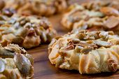 Diet - dietetic cookies with grains of the pumpkin and the sunflower