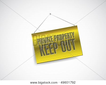 Private Property Keep Out Sign Banner Illustration