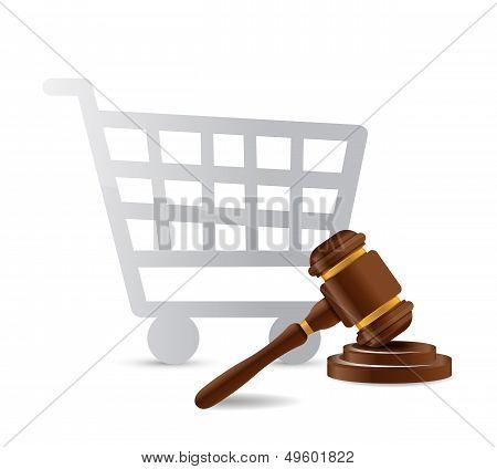 Consumer Law Concept Illustration Design