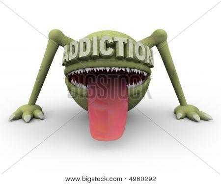 Monstro simbolizando vícios perigosos