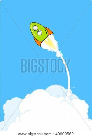 Rocket launch (raster version)