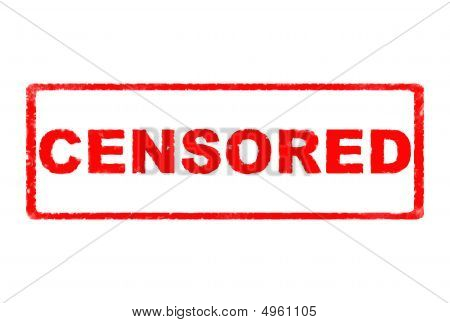 Censored Rubber Stamp