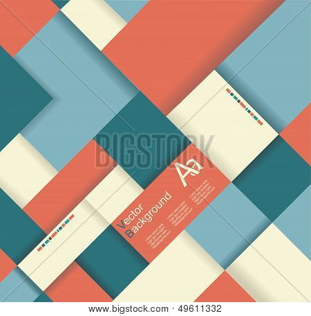 Abstract Distortion From Rhomb Shape Background