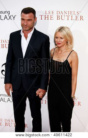 NEW YORK-AUG 5: Actors Liev Schreiber and Naomi Watts  attend the premiere of Lee Daniels'