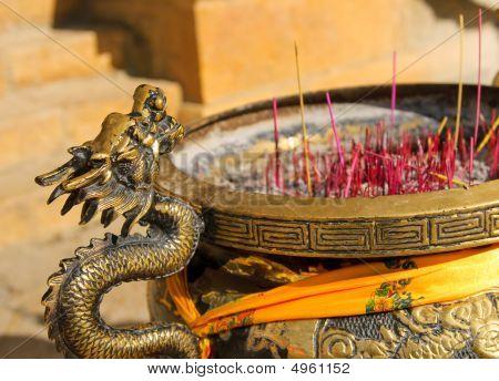 Censer In Songzanlin Tibetan Monastery, Shangri-la, China