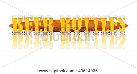 BEER ALPHABET letters BEER BOTTLES