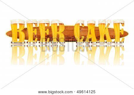 BEER ALPHABET letters BEER CAKE