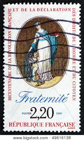 Postage Stamp France 1989 Fraternity, Declaration Of Rights