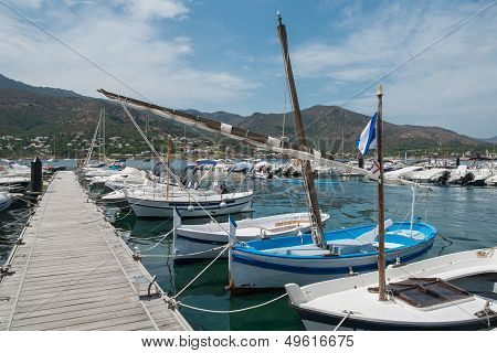 Boats In The Port Town.