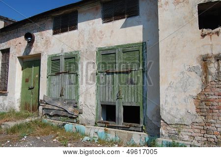 Abandoned military base  near Chernobyl alienation area Ukraine,Radio communication centre
