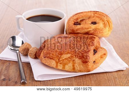 puff pastry and coffee cup