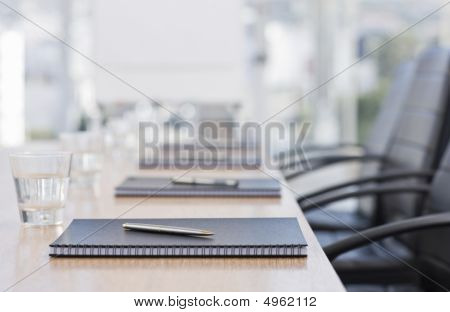 Closeup Of Notepad Kept On Table