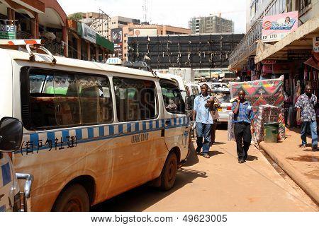 Kampala Streets Taxi Lineup