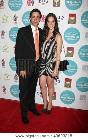 LOS ANGELES - AUG 15:  Dan Carrillo Levy, Rossana Tornel at the 9th Annual HollyShorts Film Festival Opening Night at the TCL Chinese 6 Theaters on August 15, 2013 in Los Angeles, CA