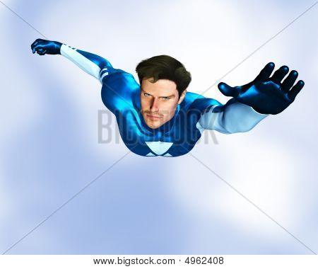 Male Superhero Flying