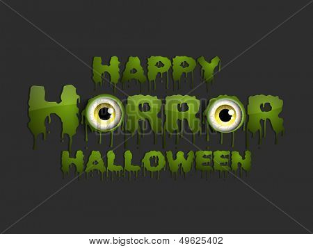 Flyer, poster or banner with text Happy Horror Halloween.