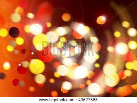 glowing swirling festive lights