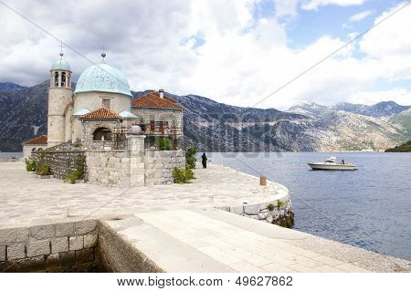 pictorial island with small church in  Montenegro