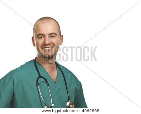 Isolated Smiling Doctor