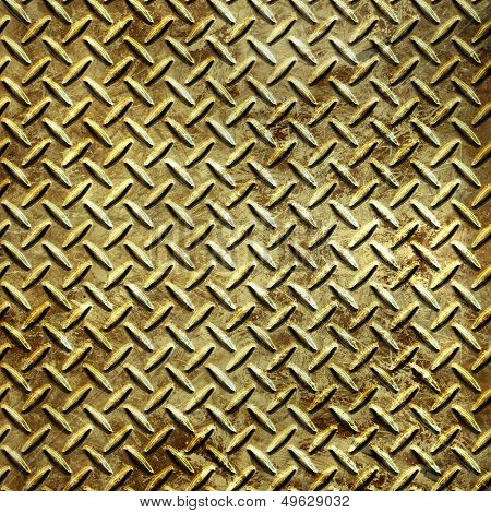 old metal diamond plate texture