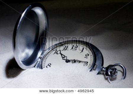Antique Pocket Watch Covered With Sand