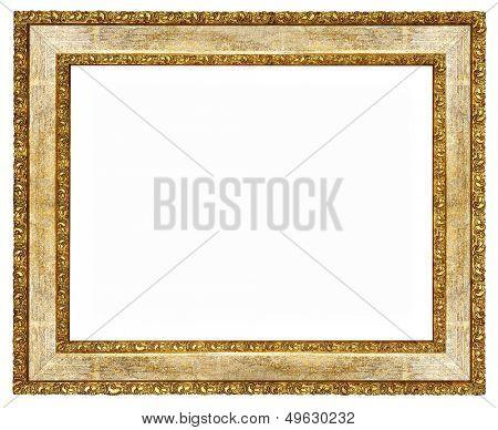 elegant wooden frame with golden borders