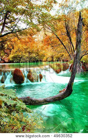 pictorial autumn scene