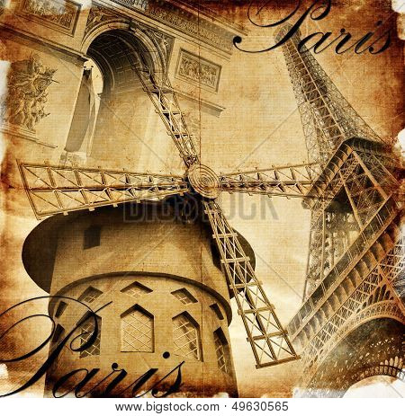 Parisian details - toned picture in retro style