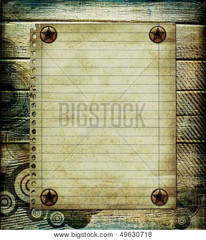 stylish grunge background with blank page
