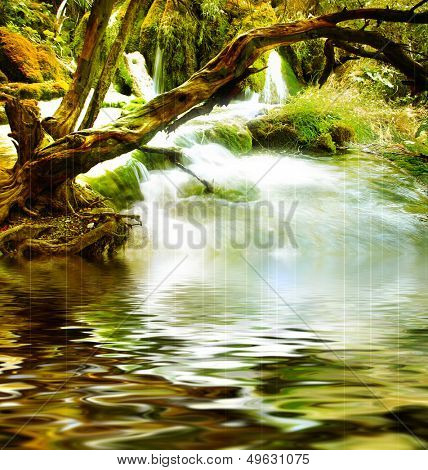 mysterious river -artistic picture