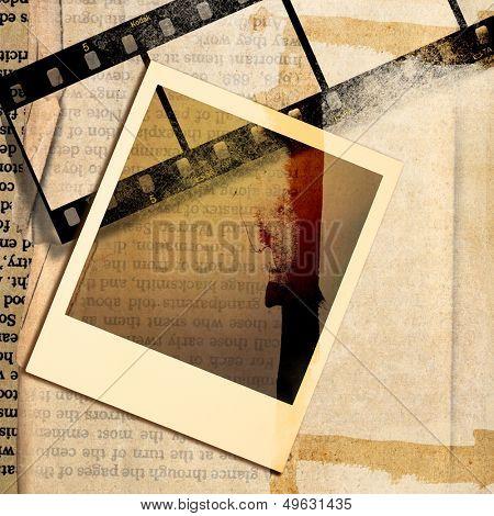 vintage background with instant frame
