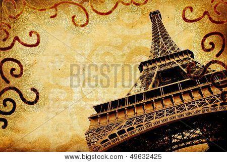 vintage photoalbum' pages - Paris
